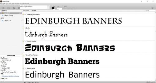 Font chooser Nexus Font Free